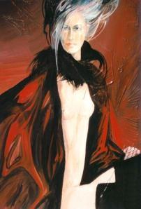 astratto con figura femminile di Giuseppe Pedota