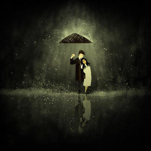 amore sotto la pioggia