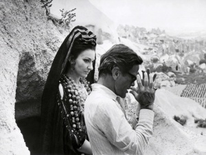 Maria Callas, American-born Greek dramatic coloratura soprano, and Italian film director Pier Paolo Pasolini, pictured in July 1969 in Nevshir, Turkey, during shooting Pasolini movie Medea. AFP PHOTO