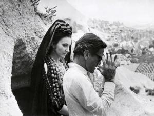 Maria Callas, American-born Greek dramatic coloratura soprano, and Italian film director Pier Paolo Pasolini, pictured in July 1969 in Nevshir, Turkey, during shooting Pasolini movie Medea. AFP PHOTO