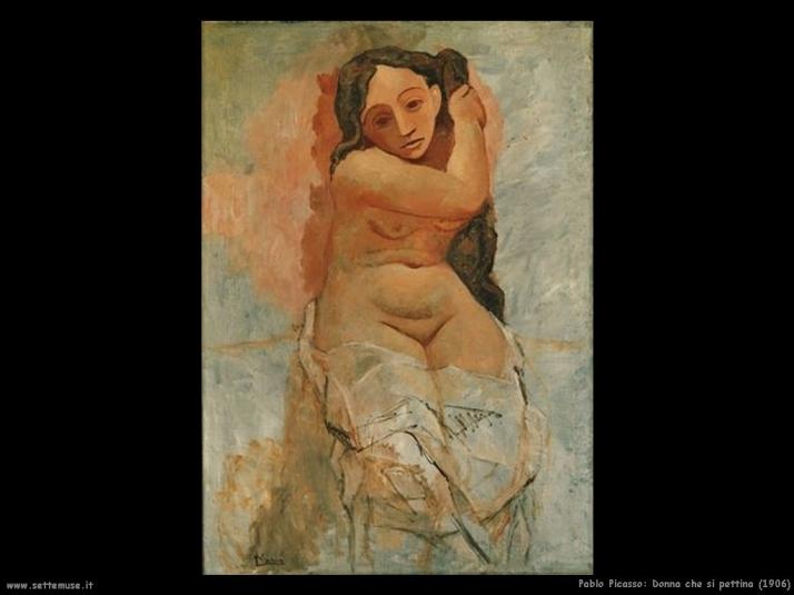 Donna che si pettina, 1906 (periodo rosa)