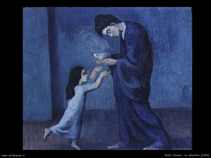 La minestra, 1902 (periodo blu)