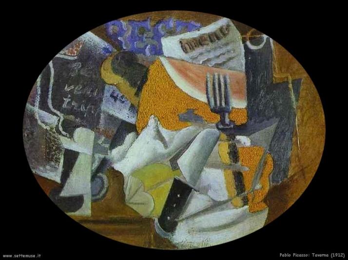 Taverna, 1912 (periodo del Cubismo)