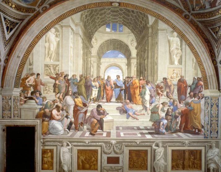 Scuola-di-Atene-Raffaello-Sanzio-analisi-1024x795