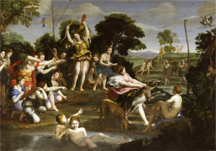 The Hunt of Diana (oil on canvas)